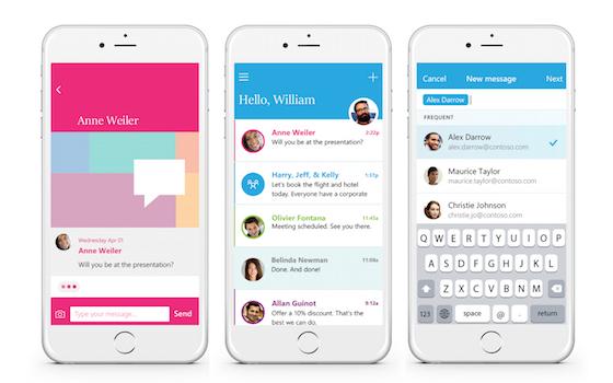 Microsoft Send iOS Microsoft Send : envoyer des mails sous forme de SMS