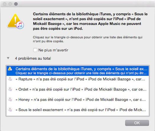 iTunes erreur DRM Apple Music : oubliez les nouveaux iPod Nano & Shuffle