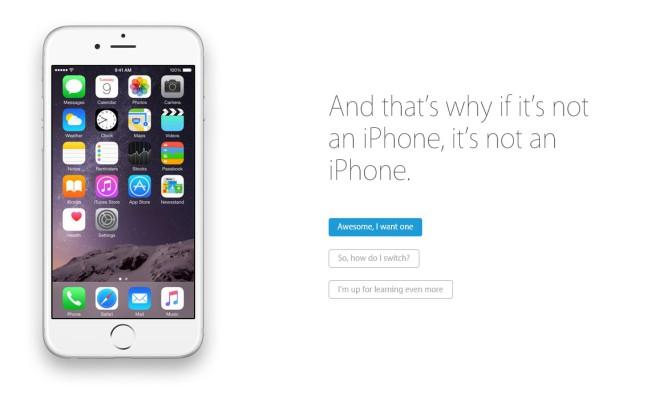 if its not an iphone e1437994947215 iPhone : Apple crée un site pour vanter ses mérites