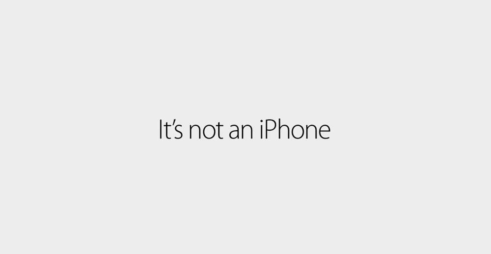 its not an iphone Apple débute une nouvelle campagne publicitaire Its not an iPhone