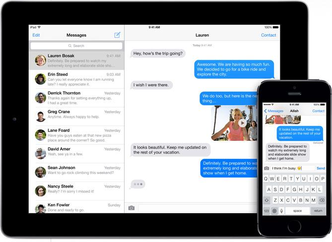 messages exchange 678x452 678x452 iMessage : nouvelles fonctionnalités en cours de développement