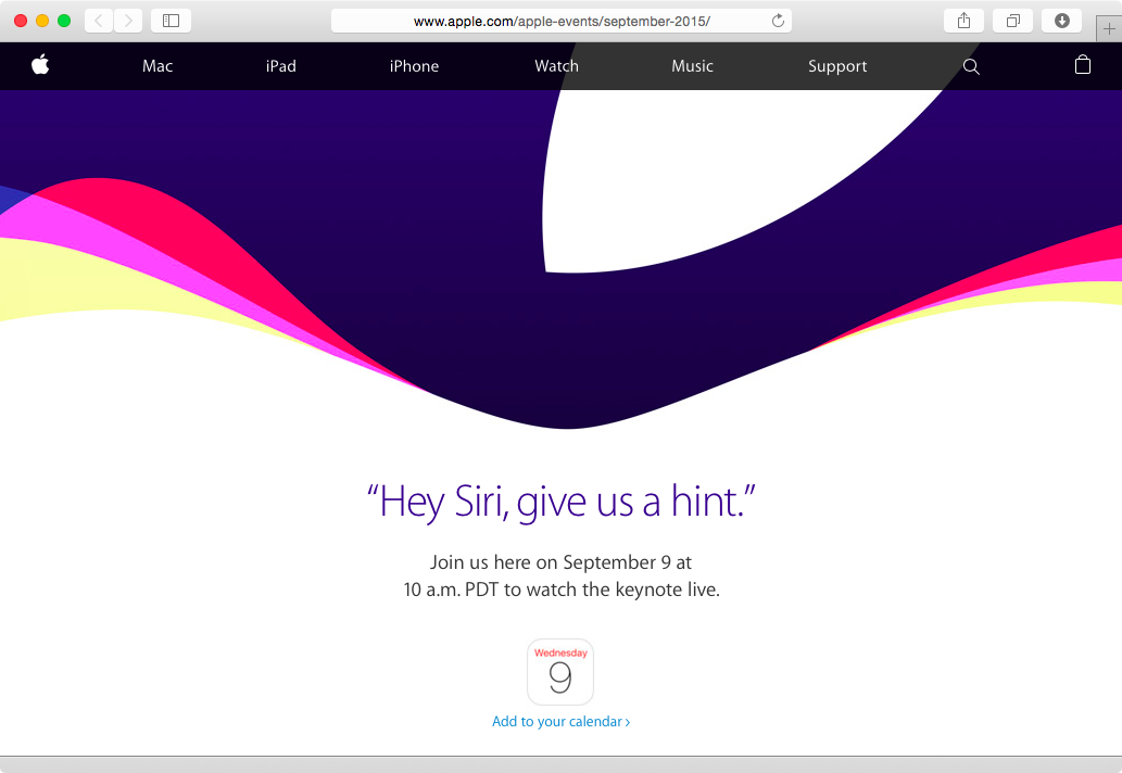Apple September 2015 event live sream Le keynote du 9 septembre sera diffusé en direct !