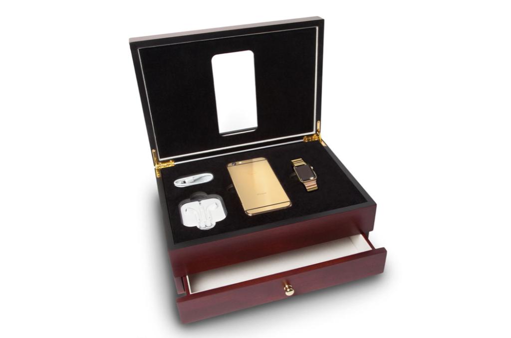 Gold plated iPhone 6s 1024x678 Envie dun iPhone 6S en or 24 carats ? Réservez le !