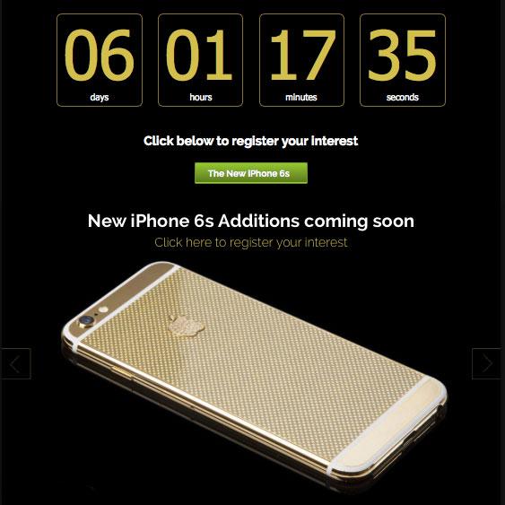 Insta Countdown Envie dun iPhone 6S en or 24 carats ? Réservez le !