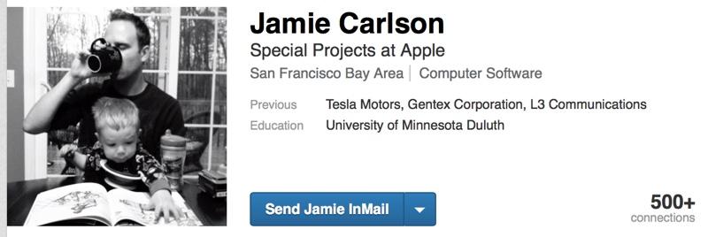 LinkedIn Apple débauche chez Tesla pour un « projet spécial »