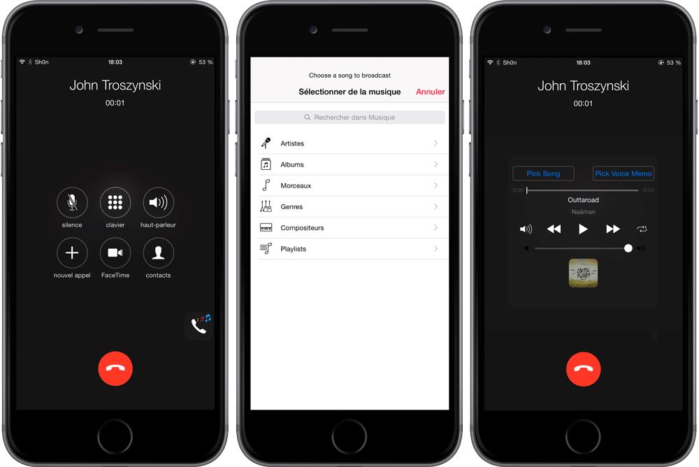 MusicTransport Cydia : MusicTransport ou comment faire écouter une musique durant un appel