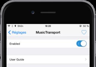 MusicTransport 1 320x224 Cydia : MusicTransport ou comment faire écouter une musique durant un appel