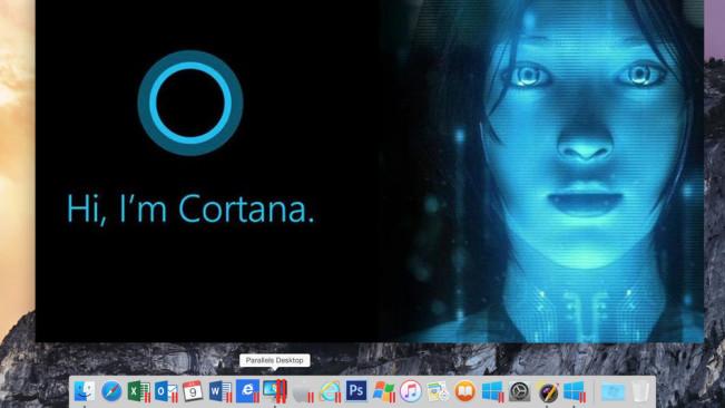 Parallels 11 Cortana1 e1439971625713 Parallels 11 est disponible, El Capitan et Windows 10 pris en charge