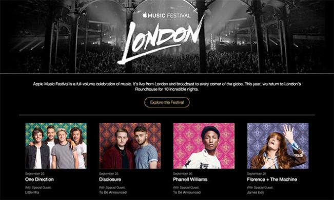 apple music festival e1439882183888 L'iTunes Festival renommé Apple Music Festival, le programme dévoilé