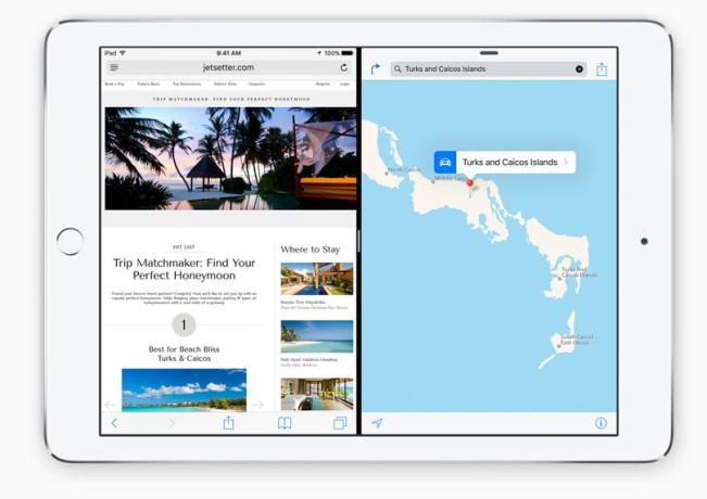 apple splitview e1439363942609 iPad mini 4 : affichez 2 applications simultanément avec Split View