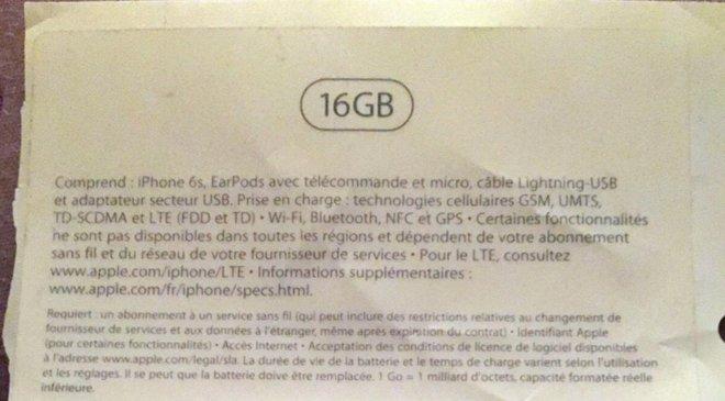 iPhone6s 16GB LiPhone 6S débutera (malheureusement) à 16 Go !