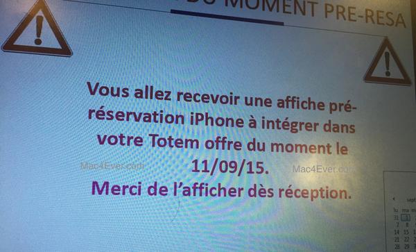 iphone 6S reservation Les réservations de l'iPhone 6s commencent le 11 septembre