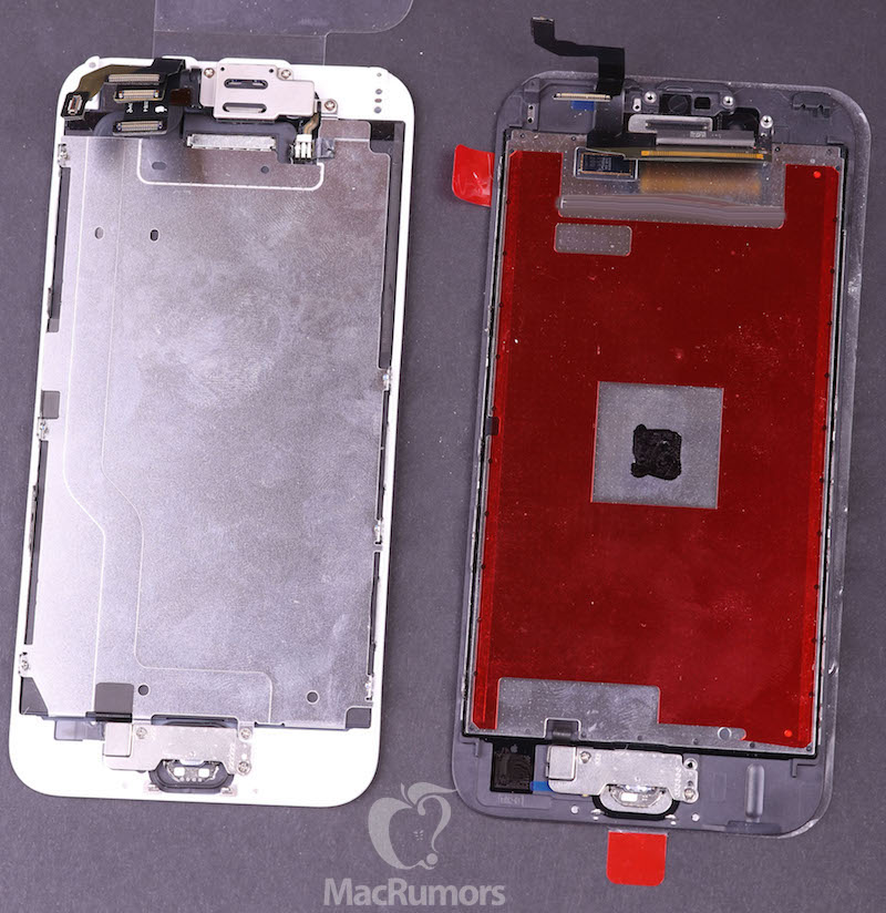 iphone 6 6s displays rear Lécran de liPhone 6S se dévoile un peu plus