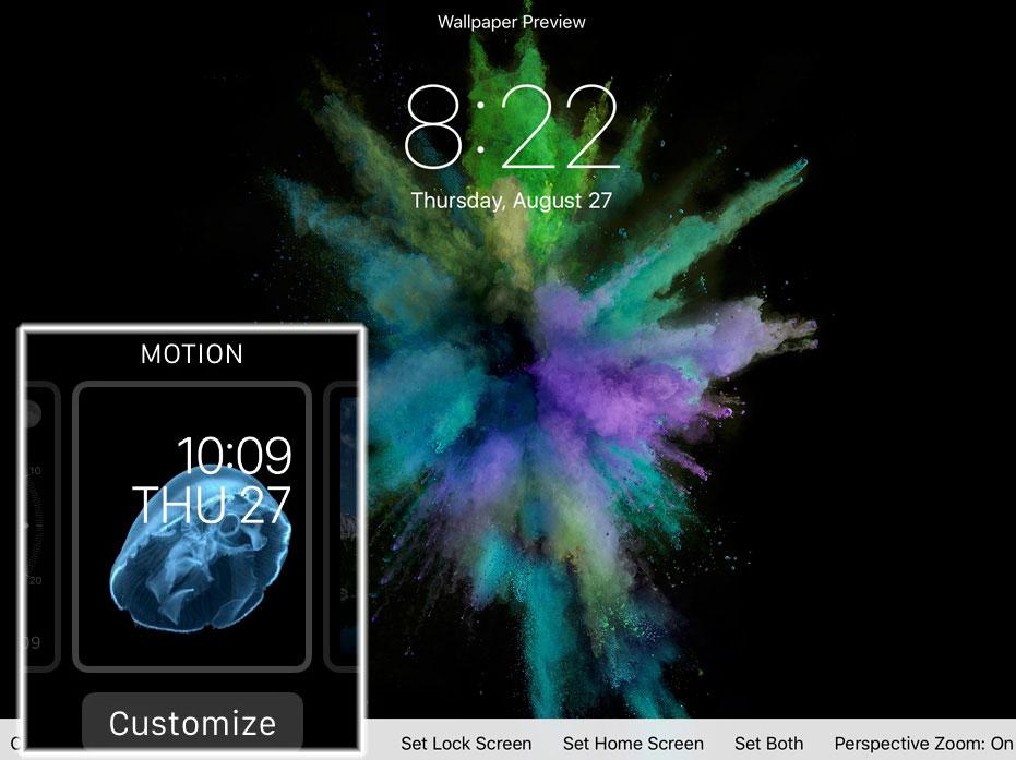 motionio LiPhone 6S disposerait de nouveaux fonds décran animés