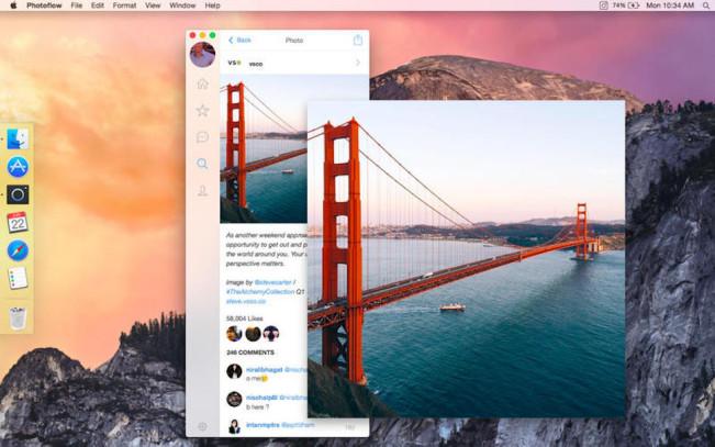 photoflow mac e1440664118360 Utilisez Instagram sur votre Mac grâce à Photoflow