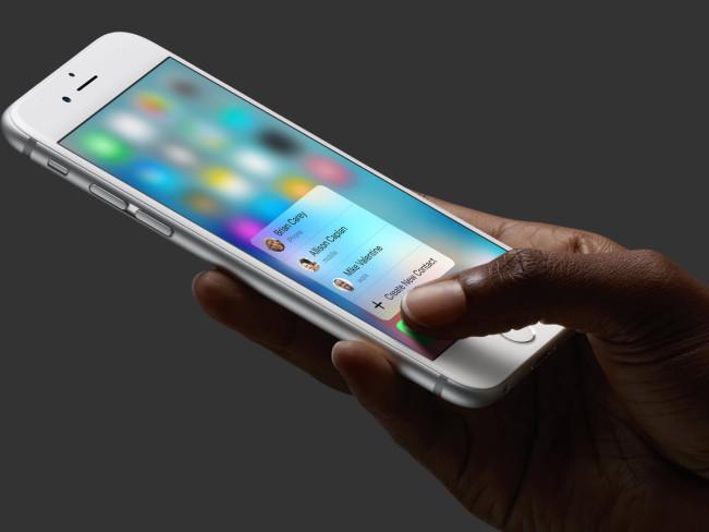 3d touch1 e1442477861249 3D Touch marche avec les films de protection iPhone 6s
