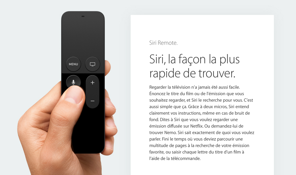 Apple TV Siri Le Siri de lApple TV disponible dans seulement 8 pays... Pourquoi ?