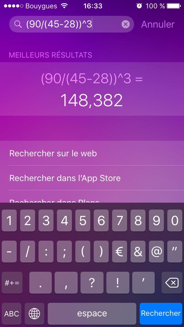 IMG 9056 iOS 9 : Spotlight résout vos problèmes de maths