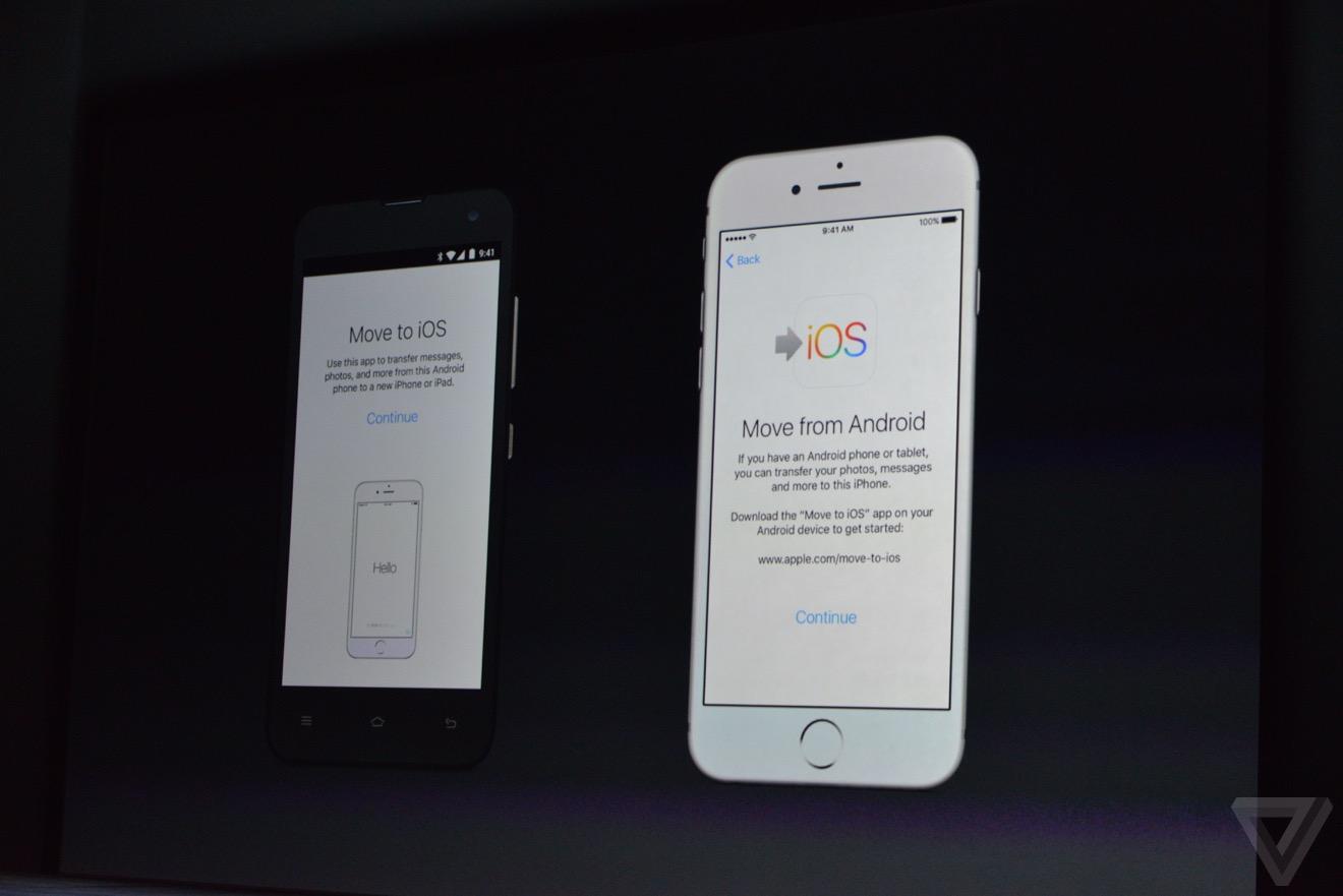 android to ios Bilan keynote : iPhone 6s, Apple TV 4, iPad Pro, watchOS 2