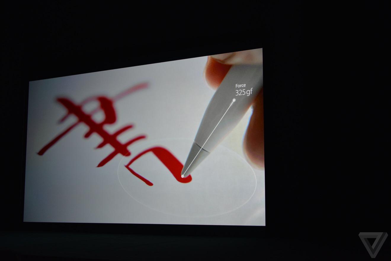 apple pencil Bilan keynote : iPhone 6s, Apple TV 4, iPad Pro, watchOS 2