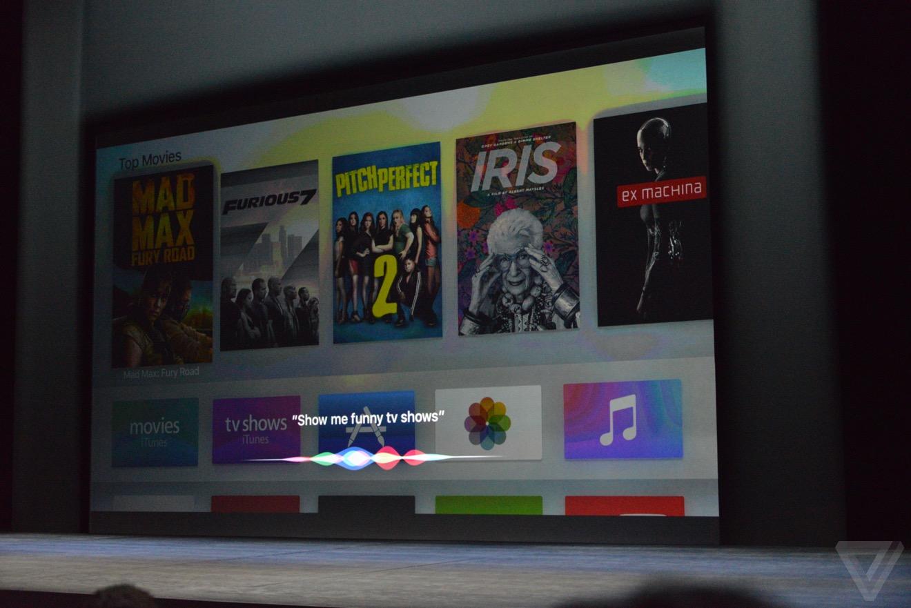 apple tv siri Bilan keynote : iPhone 6s, Apple TV 4, iPad Pro, watchOS 2