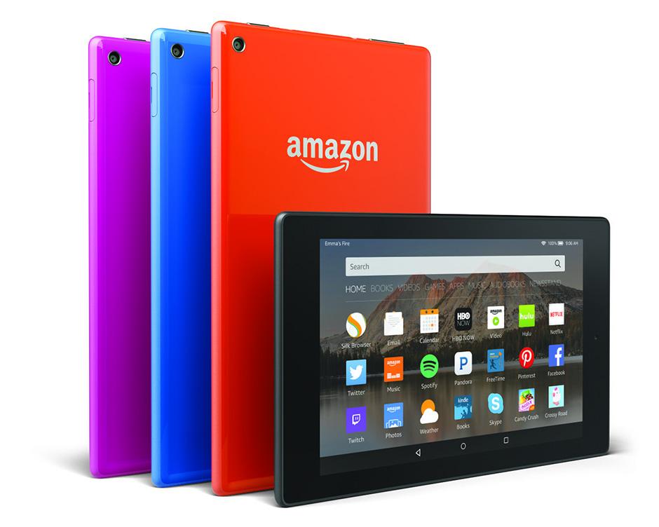 fire hd 8 Amazon lance sa contre offensive avec ses nouvelles tablettes et sa nouvelle box TV