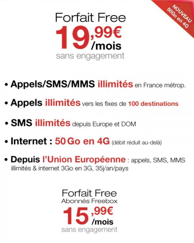 free mobile 4g e1441102055156 Free Mobile propose désormais 50 Go de 4G