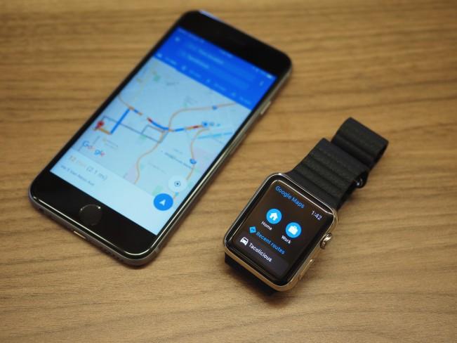 google maps apple watch e1443597780325 Google se moque du monde avec Maps sur Apple Watch