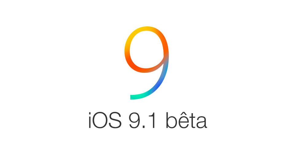 iOS 9 1 beta Une nouvelle bêta disponible pour iOS 9.1 et tvOS