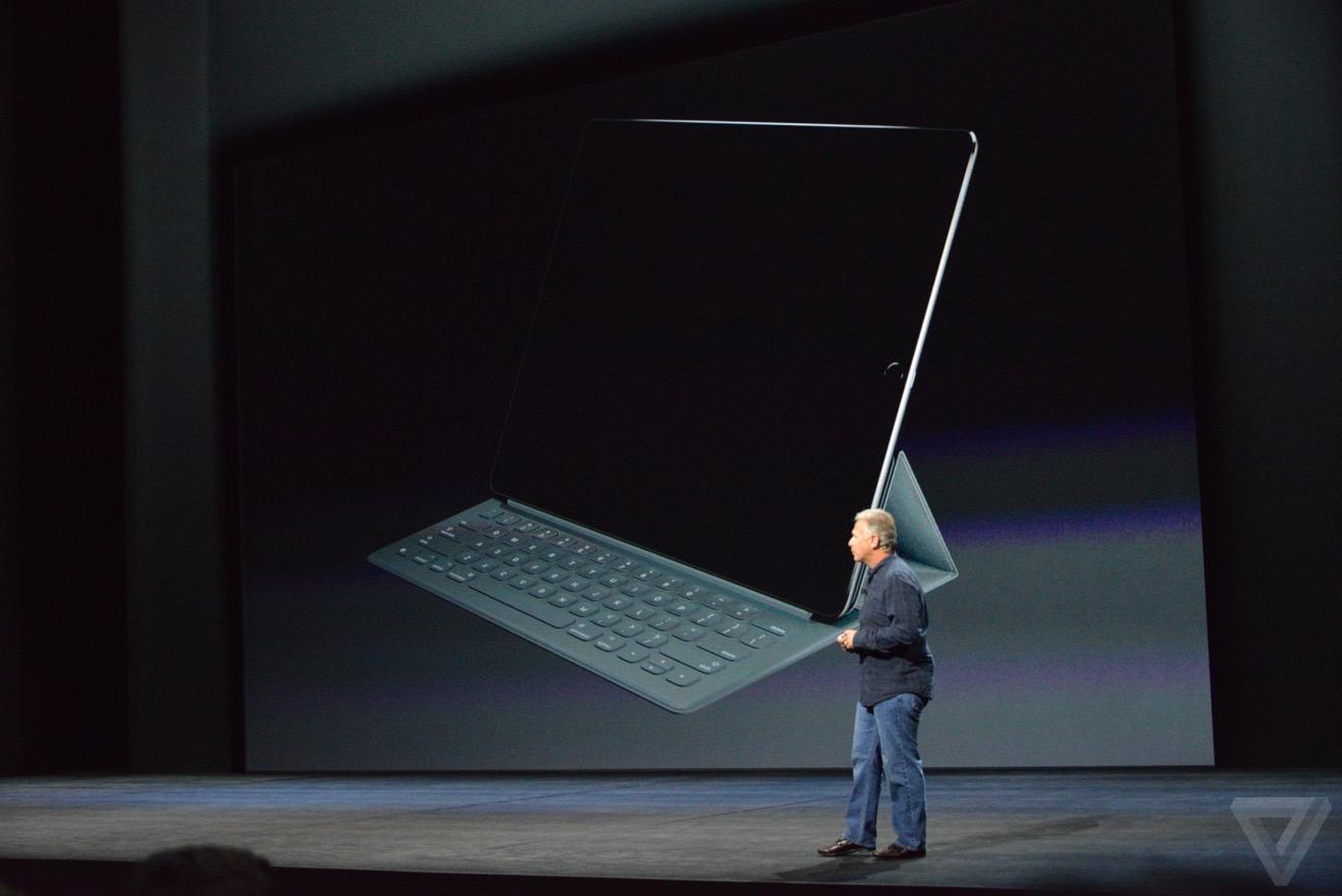 ipad pro clavier smart Bilan keynote : iPhone 6s, Apple TV 4, iPad Pro, watchOS 2