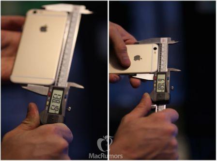 iphone 6s dimensions Les iPhone 6s sont plus larges et plus épais