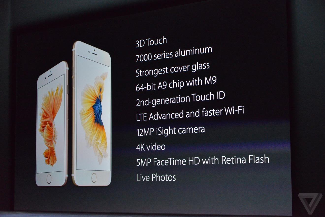 iphone 6s1 Bilan keynote : iPhone 6s, Apple TV 4, iPad Pro, watchOS 2