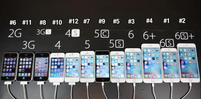 iphone comparaison e1443604503689 Vidéo : lévolution de liPhone Edge au 6s