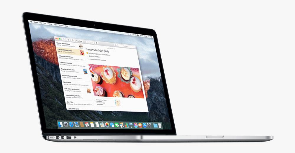 mac os x el capitan notes Mac OS X El Capitan est enfin disponible, récapitulatif des nouveautés !