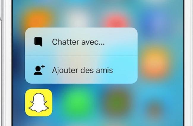 3D touch snapchat 1 Snapchat se met aussi au 3D Touch et inaugure de nouveaux filtres !