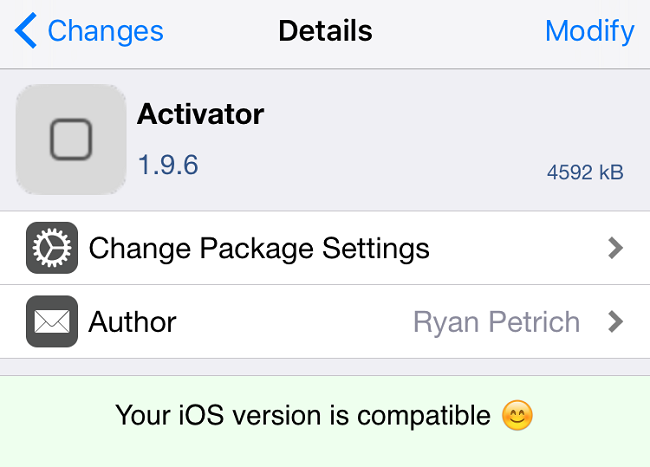 Activator 1.9.6 Tweak : Activator passe en version 1.9.6 et supporte 3D Touch