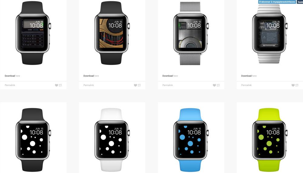 Apple Faces 2 Des fonds décran pour votre Apple Watch ? Cest par ici !