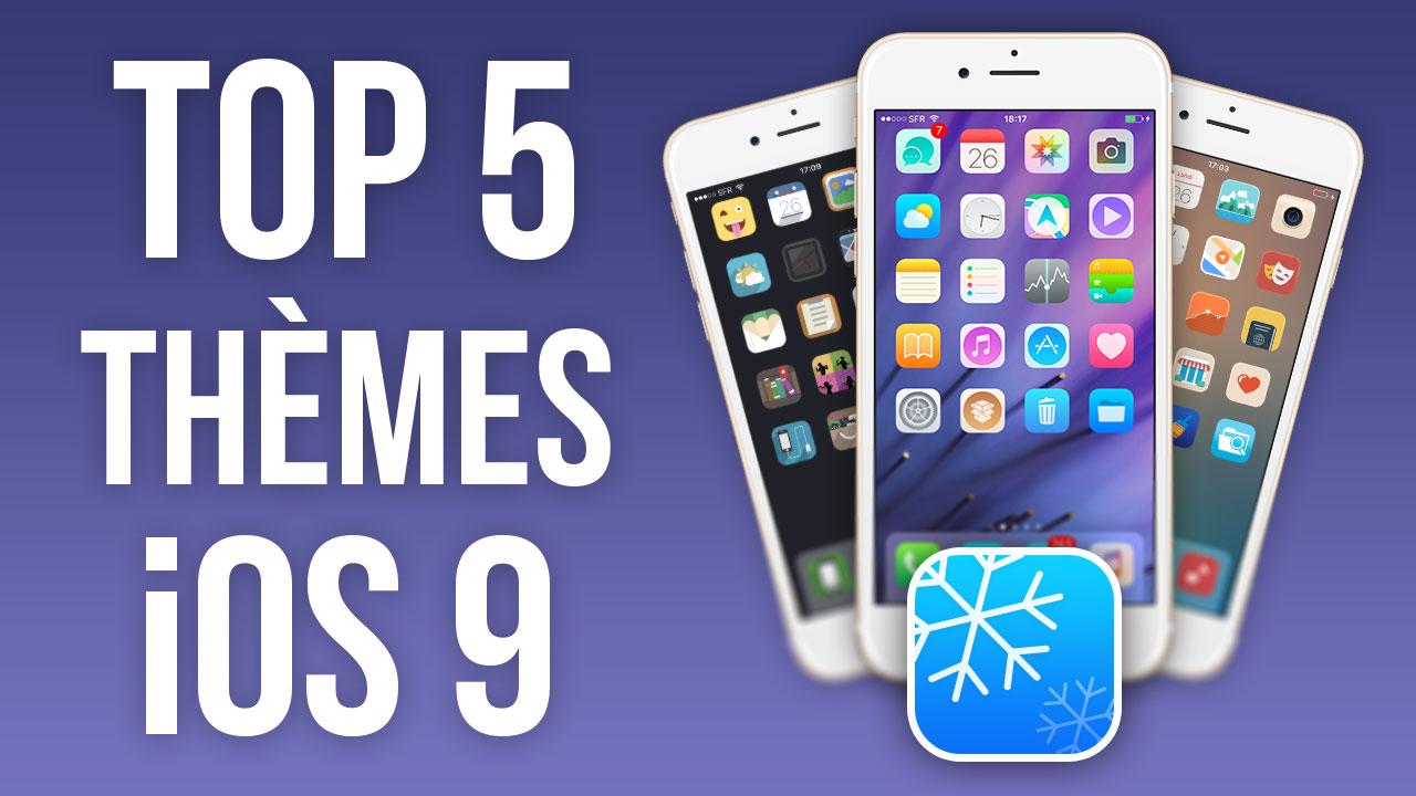 Miniature [VIDÉO] Top 5 des meilleurs thèmes pour iOS 9