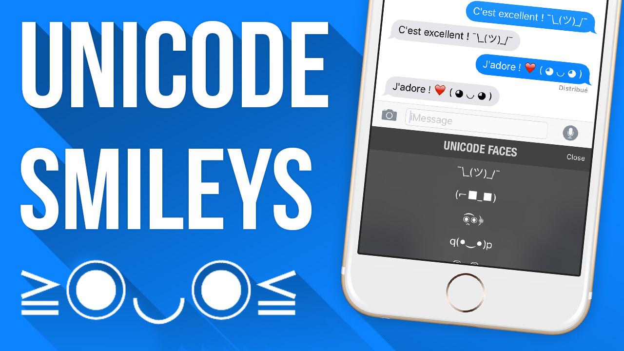 Miniature1 [VIDÉO] Utiliser des Emojis Unicode sur son iDevice