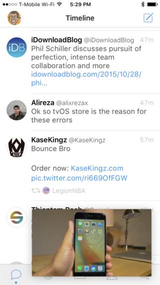 Pegasus iOS 9 Picture in Picture 576x1024 320x569 Cydia : Pegasus vous permet de regarder vos vidéos en multitâche