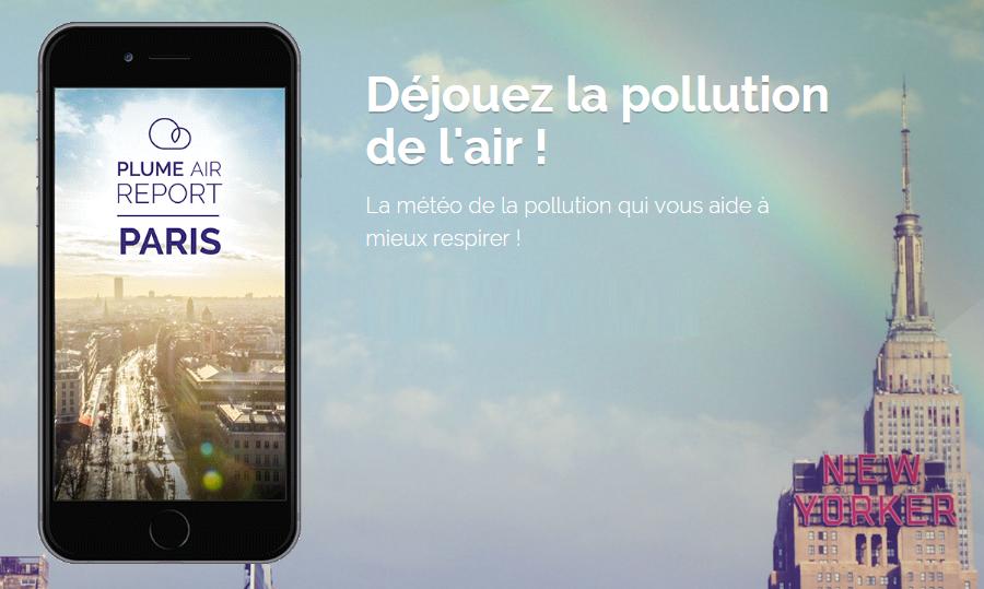 Plume Air Report bannière Plume Air Report : contrôlez la qualité de lair dans vos villes