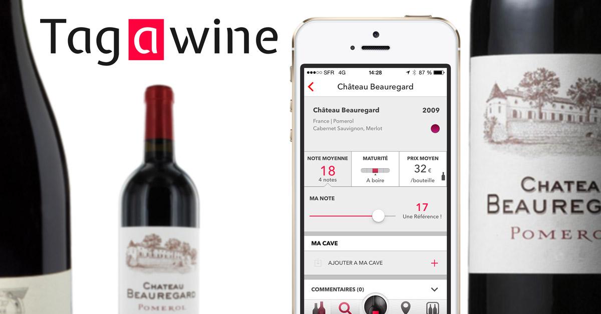 TAW Bouteille Tag Pomerol Tagawine, le premier véritable réseau social pour les amateurs de vin