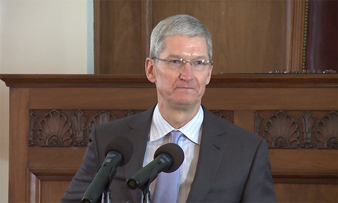 Tim Cook Apple soutient la lutte contre les discriminations à Houston