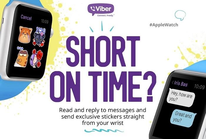 Viber for Apple Watch 2 Viber officialise son compagnon sur lApple Watch