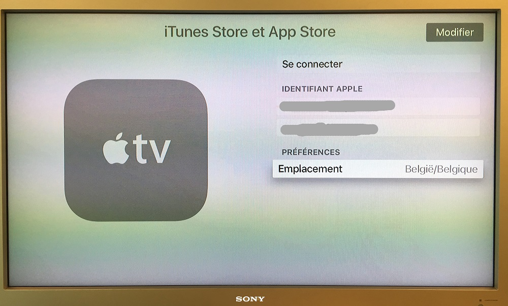 identifiant apple connexion