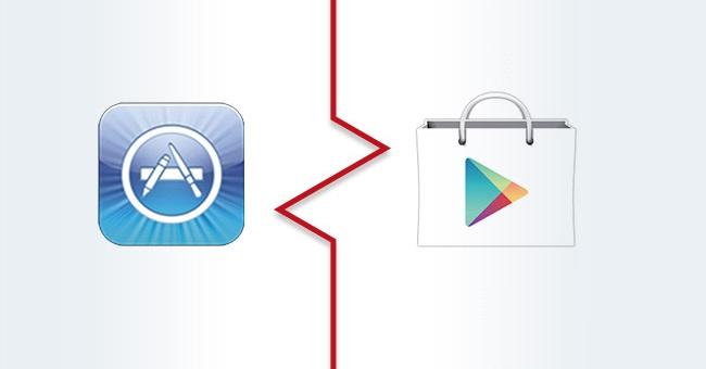 appstore vs googleplay 00 LApp Store dApple générerait plus de bénéfices que le Google Play Store