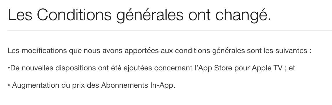 conditions utilisation itunes WatchOS 2.0.1 et iTunes 12.3.1 sont eux aussi de sortie
