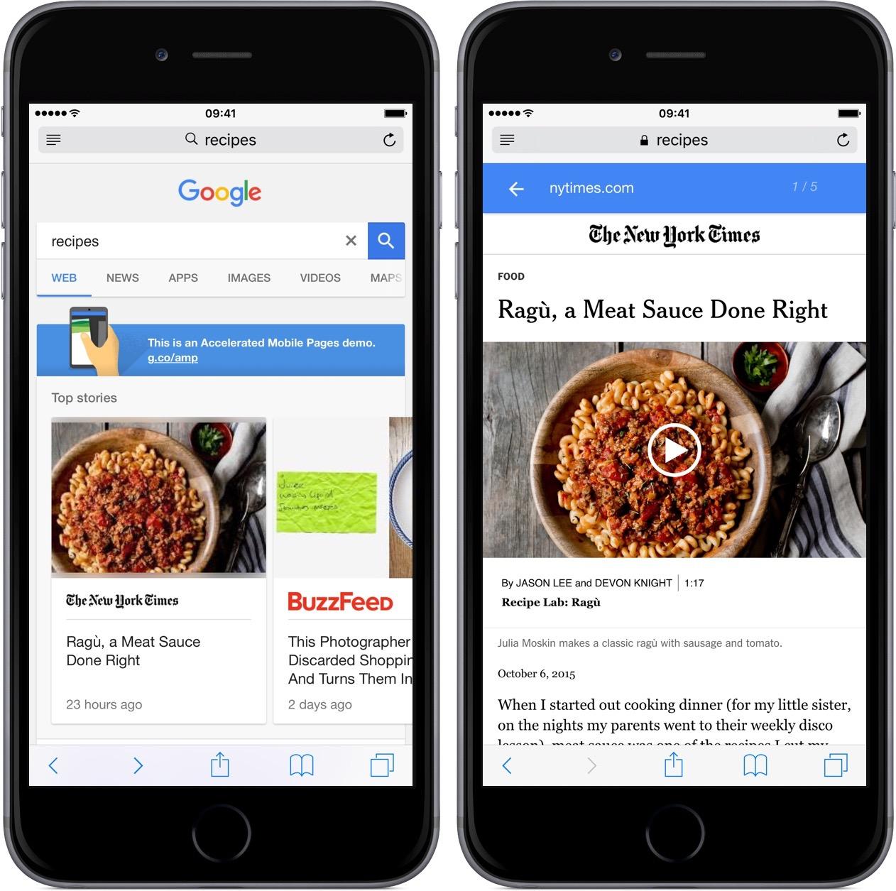 google accelere page mobile Google accélère le chargement des pages mobiles