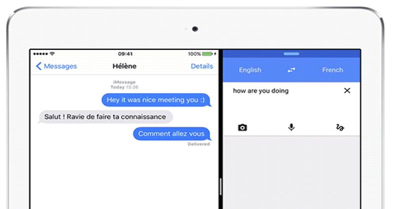 google translate ipad split view Google Traduction adopte le mode Split View sur liPad