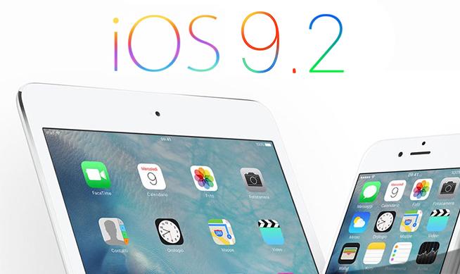 iOS 9.2 Apple livre iOS 9.2 bêta 1 exclusivement pour les développeurs !